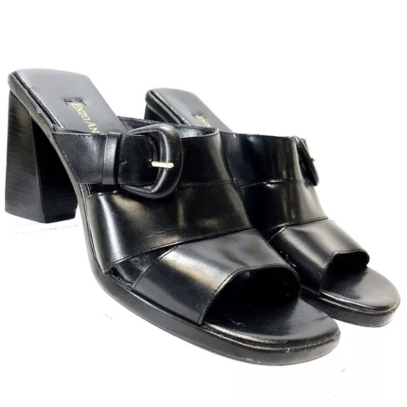 1edb9a4c54 Enzo Angiolini Shoes | Womens Anton Black Leather Mules8m | Poshmark
